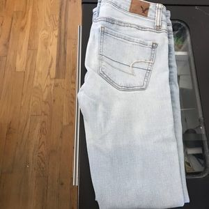 AE Ripped Skinny Jeans sz 00S